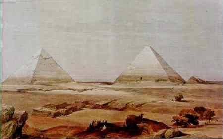 Two pyramids in the evening.