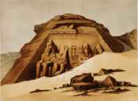 Pharaoh Ramesses had the giant temple at Abu Simbel carved into a mountainside.
