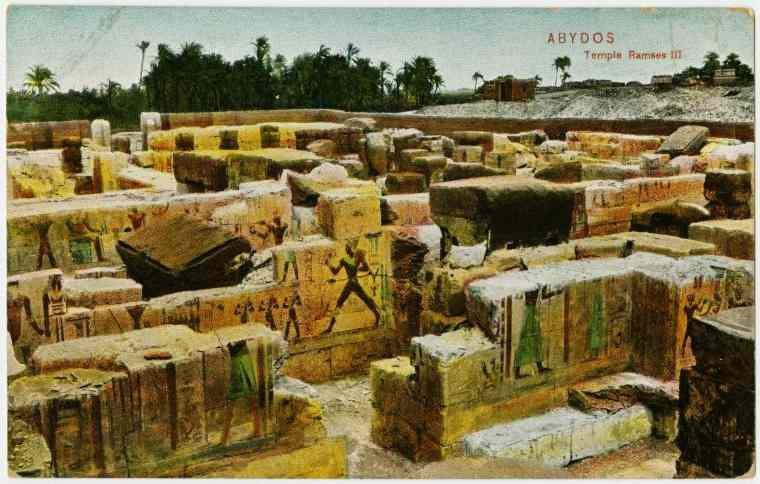 The remaining stones of the Temple of Ramsses II.