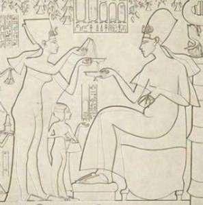 Visión de Akhenatón y Nefertiti en el año 1907 Akhenaten-Nefertiti-Prisse-d-Avennes-1878