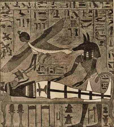 Anubis and Bai Prepare Mummy