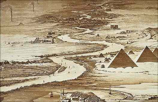Egyptian monuments from the north