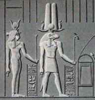 the gods Isis and Amun