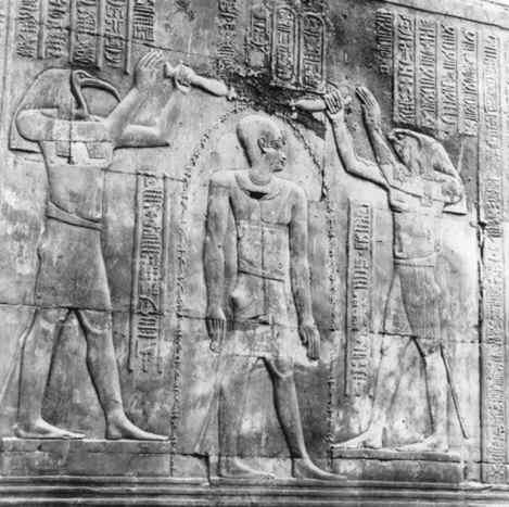 Thoth, Horus and Ptolemy XII
