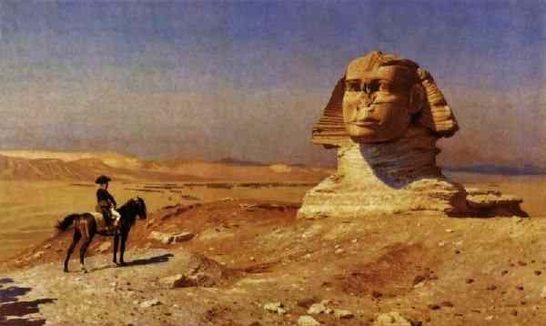The Sphinx does not seem concerned with the ambitions of Napoleon