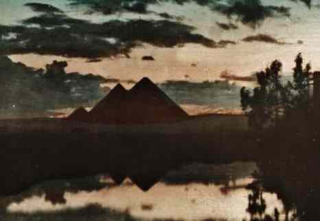Three pyramids in the evening