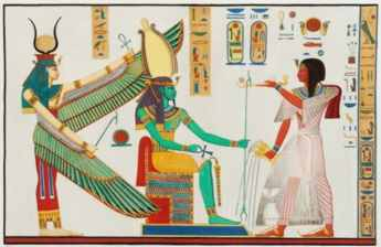 Ancient Egyptian art from the tomb of Rameses III.