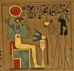 A lady brings offerings to Horus-Ra, by the Earl of Belmore.