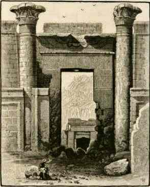 Temple  of Thutmosis III at Karnac by John Woodward 1880