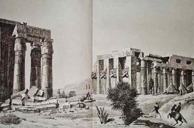 The ramesseum temple.