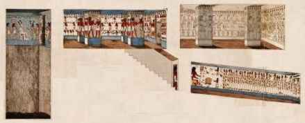 chambers in the tomb of Seti I.