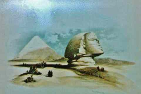 A mystic view of the Sphinx and Pyramids