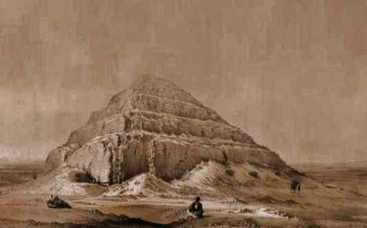 The Step Pyramid of Zoser, the world's oldest pyramid. by Johann Frey