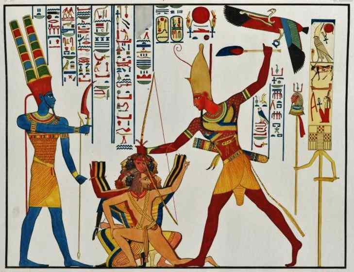 from the temple of Rameses II in Abu Simble.