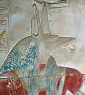 Wepwawet a form of Anubis - Abydos Temple of Seti I Photo- EgyptArchive